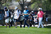 Graeme McDowell (NIR) and Rickie Fowler (USA) during the First Round of the The Arnold Palmer Invitational Championship 2017, Bay Hill, Orlando,  Florida, USA. 16/03/2017.<br /> Picture: PLPA/ Mark Davison<br /> <br /> <br /> All photo usage must carry mandatory copyright credit (© PLPA | Mark Davison)