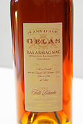 Gelas Bas Armagnac 18 ans d'Age eighteen years old made from grape variety Folle Blanche