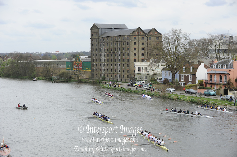 Chiswick, London, GREAT BRITAIN,  General Views, GV's from Chiswick Bridge. 2011 Head of the River Race. Mortlake to Putney,  Championship Course River Thames on Saturday  02/04/2011  [Mandatory Credit, Peter Spurrier/Intersport-images]