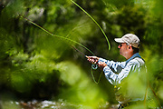 Doug Hacker casts his line into the Frying Pan River outside of Basalt, Colorado.