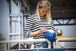 September 12, 2017 - Stephanie Gilmore of Australia signing autographs for the fans at the Swatch Pro at Trestles...Swatch Pro 2017, California, USA - 12 Sep 2017 (Credit Image: © Rex Shutterstock via ZUMA Press)