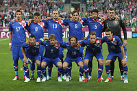 Football - European Championships 2012 - Republic of Ireland v Croatia<br /> Croatia team group at the Municipal Stadium, Poznan<br /> Back row (L-R): Mario Mandzukic, Ognjen Vukojevic, Gordon Schildenfeld, Nikica Jelavic, Vedran Corluka, Stipe Pletikosa<br /> Front row (L-R): Darijo Srna, Ivan Strinic, Luka Modric, Ivan Rakitic, Ivan Perisic