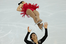 The XXII Winter Olympic Games 2014 in Sotchi, Olympics, Olympische Winterspiele Sotschi 2014, Figure Skating, Pairs Short Program,<br /> Japan's Narumi Takahashi and Ryuichi Kihara  *** Local Caption ***