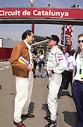 Frederico Gastaldi and David Coulthard. Grand Prix, Saturday, 28/4/01. Barcelona. 27 April 2001. © Copyright Photograph by Dafydd Jones 66 Stockwell Park Rd. London SW9 0DA Tel 020 7733 0108 www.dafjones.com