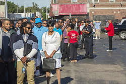 August 5, 2017 - Detroit, Michigan, U.S. - Detroit, Michigan USA - 5 August 2017 - Job seekers crowded the United Auto Workers Local 22 union hall for a job fair directed in part towards those who have a hard time finding work because of past prison records. Companies billed as ''ex-felon friendly'' talked to job seekers. [Caution to editors: Not everyone attending the job fair has a criminal record. (Credit Image: © Jim West via ZUMA Wire)