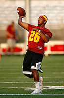 22 August 2007: #26 Marc Tyler at USC Trojans NCAA Pac-10 college football team fall intrasquad scrimmage at the LA Memorial Coliseum on Wednesday night infront of 18,000 fans who attended for free.