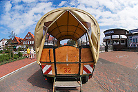 Horse drawn taxi on carless island of Juist, Wadden Sea national park, Germany