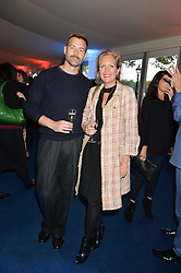 PATRICK GRANT and IMOGEN EDWARDS-JONES  at the World's Greatest Quiz Night in aid of the Quintessentially Foundation and Dimbleby Cancer Care held at the Riverside Parliament Panorama marquee at St Thomas' Hospital, Westminster Bridge Road, Londonon 15th September 2015.