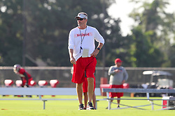 July 28, 2018 - Tampa, FL, U.S. - TAMPA, FL - JULY 28: Head Coach Dirk Koetter watches the action during the Tampa Bay Buccaneers Training Camp on July 28, 2018 at One Buccaneer Place in Tampa, Florida. (Photo by Cliff Welch/Icon Sportswire) (Credit Image: © Cliff Welch/Icon SMI via ZUMA Press)