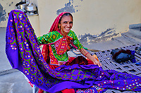 Inde, Gujarat, region du Kutch, Bhuj, village de Dhaneti, population Ahir // India, Gujarat, Kutch, Bhuj, Dhaneti villlage, Ahir ethnic group