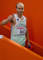 Bostjan Buc of Slovenia after competing in the Mens 3000m Steeplechase Final during day six of the 20th European Athletics Championships at the Olympic Stadium on August 1, 2010 in Barcelona, Spain. (Photo by Vid Ponikvar / Sportida)