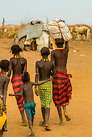 Dassanach tribe village, Omo Valley, Ethiopia.