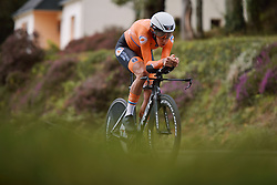 Ellen van Dijk (NED) in her way to a second place finish at the 2020 UEC Road European Championships - Elite Women ITT, a 25.6 km individual time trial in Plouay, France on August 24, 2020. Photo by Sean Robinson/velofocus.com