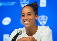 Madison Keys of the United States talks to the media after winning her third-round match at the 2018 Western and Southern Open WTA Premier 5 tennis tournament, Cincinnati, Ohio, USA, on August 16th 2018 - Photo Rob Prange / SpainProSportsImages / DPPI / ProSportsImages / DPPI