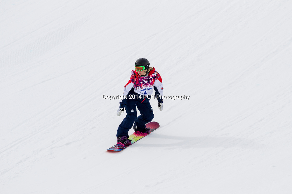 Jenny Jones (GRB) bronze medalist competing in Ladies's Snowboard Slopestyle at the Olympic Winter Games, Sochi 2014