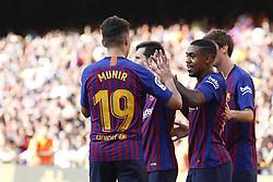 August 15, 2018 - Barcelona, Catalonia, Spain - August 15, 2018 - Camp Nou, Barcelona, Spain - Trofeu Joan Gamper FC Barcelona v Boca Juniors; Malcom of FC Barcelona celebrates the 1-0. (Credit Image: © Marc Dominguez via ZUMA Wire)