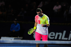 October 29, 2016 - Basel, Basel, Switzerland - Mischa Zverev (GER) during a match against Marin Cilic (CRO) in the semi-finals of the Swiss Indoors at St. Jakobshalle in Basel, Switzerland on October 29, 2016. (Credit Image: © Miroslav Dakov/NurPhoto via ZUMA Press)