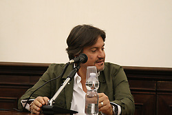 April 25, 2017 - Napoli, Campania/Napoli, Italy - Cristiano De Andrè  at the MANN Festival ''Muse al  Museo'' in Italy. (Credit Image: © Salvatore Esposito/Pacific Press via ZUMA Wire)