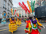 Bolivia in London - The New Years Day parade passes through central London.