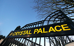 A view of the gates outside the ground before the Premier League match at Selhurst Park, London, Thursday 28th December 2017