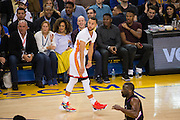 Golden State Warriors guard Stephen Curry (30) reacts to a missed shot against the LA Clippers at Oracle Arena in Oakland, Calif., on January 28, 2017. (Stan Olszewski/Special to S.F. Examiner)