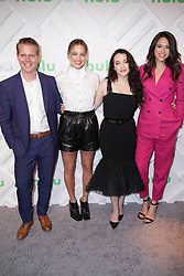 Brett Hedblom, Margot Robbie, Kat Dennings and Jordan Weiss at the 2019 Hulu Upfront in New York City.
