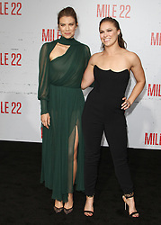 Mille 22 Premiere at The Regency Village Theatre in Westwood, California on 8/9/18. 09 Aug 2018 Pictured: Lauren Cohan, Ronda Rousey. Photo credit: River / MEGA TheMegaAgency.com +1 888 505 6342