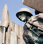 World War Two monument in Warsaw, Poland