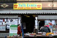 Shops on Moore Street Dublin Ireland