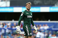 Goalkeeper Robert Green of Leeds United looking dejected during the 2nd half. Skybet EFL championship match, Queens Park Rangers v Leeds United at Loftus Road Stadium in London on Sunday 7th August 2016.<br /> pic by John Patrick Fletcher, Andrew Orchard sports photography.