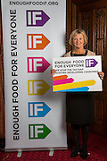 Baroness Kinnock supporting the Enough Food for Everyone?IF campaign. .MP's and Peers attended the parliamentary launch of the IF campaign in the State Rooms of Speakers House, Palace of Westminster. London, UK.