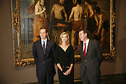 .R.H. The Infanta Dona Cristina de Borbon and Her husband Mr Inaki Urdangarin, Duchess and Duke of Palma, and Miguel Zugaza Director of the Prado.  Velasquez private view, Sainsbury Wing, National Gallery,16 October 2006. DO NOT ARCHIVE-© Copyright Photograph by Dafydd Jones 66 Stockwell Park Rd. London SW9 0DA Tel 020 7733 0108 www.dafjones.com
