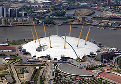 Image ©Licensed to i-Images Picture Agency. Aerial views. United Kingdom.<br /> the Millenium Dome, London. Picture by i-Images
