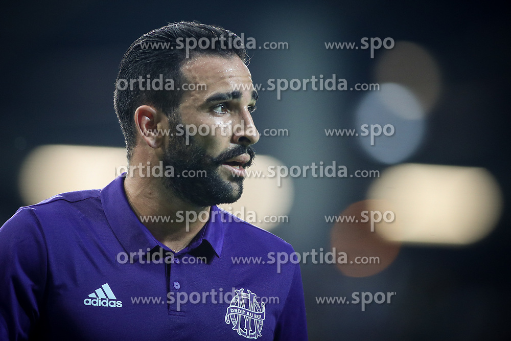 Adil Rami of Olympic Marseille during football match between NK Domzale and Olympique de Marseille in First game of UEFA Europa League playoff round, on August 17, 2017 in SRC Stozice, Ljubljana, Slovenia. Photo by Morgan Kristan / Sportida