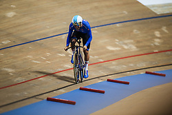 March 1, 2019 - Pruszkow, Poland - Davide Plebani of Italy on his way to winning the Bronze medal in the Men's individual pursuit on day three of the UCI Track Cycling World Championships held in the BGZ BNP Paribas Velodrome Arena on March 01, 2019 in Pruszkow, Poland. (Credit Image: © Foto Olimpik/NurPhoto via ZUMA Press)