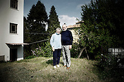 """DeMarchi Franco with his wife. Partisan name """"Mela"""". Born in 1930. In the 1944 he joined the partisan rebellion forces that was fighting again the fascist and the nazist. He was assigned to the Gianni Battalion and he fought in the Val Cervo."""