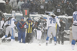 Philadelphia Eagles running back LeSean McCoy #25 gets up from the snow after carry gin the ball during the NFL game between the Detroit Lions and the Philadelphia Eagles on Sunday, December 8th 2013 in Philadelphia. The Eagles won 34-20. (Photo by Brian Garfinkel)
