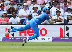 July 14, 2018 - London, Greater London, United Kingdom - Rohit Shama of India catch England's Moeen Ali .during 2nd Royal London One Day International Series match between England and India at Lords Cricket Ground, London, England on 14 July 2018. (Credit Image: © Action Foto Sport/NurPhoto via ZUMA Press)
