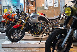 Jeff Wright's custom RnineT BMW at the One Show motorcycle show in Portland, OR. February 13, 2016. ©2016 Michael Lichter
