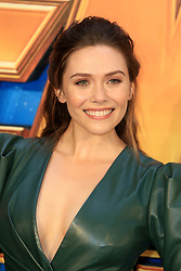 """attends the Avengers """"Infinity War"""" UK Fans Screening at the BBC Studio in London. 08 Apr 2018 Pictured: Elizabeth Olsen. Photo credit: Fred Duval / MEGA TheMegaAgency.com +1 888 505 6342"""