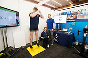 24/11/2019 repro free:<br /> GMIT's David McCarthy, Máire Nixon<br /> and Luke Smyth from Sport and Exercise science<br /> at  the last day of the Galway Science and Technology Festival  at NUI Galway where over 20,000 people attended exhibition stands  from schools to Multinational Companies . Photo:Andrew Downes, xposure