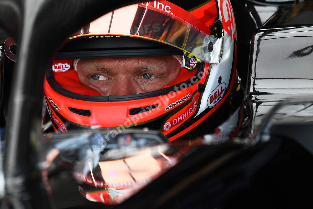 Kevin Magnussen (Haas-Ferrari) in the pits with his helmet on before the 2019 French Grand Prix at Paul Ricard. Photo: Grand Prix Photo