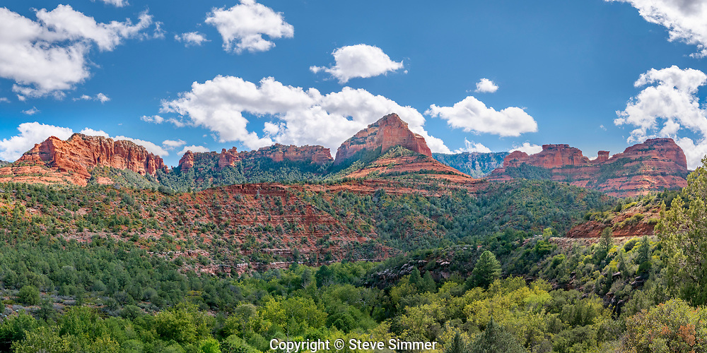 Just north of Sedona on the scenic drive through Oak Creek Canyon is this viewpoint, which is one of many.  It is also the location of a popular swimming hole in Oak Creek.