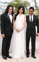 Anil George, Niharika Singh, Ashim Ahluwalia, at the Miss Lovely film photocall at the 65th Cannes Film Festival France. Thursday 24th May 2012 in Cannes Film Festival, France.