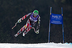 12-02-2011 SKIEN: FIS ALPINE WORLD CHAMPIONSSHIP: GARMISCH PARTENKIRCHEN<br /> Bode Miller (USA) takes to the air competing in the men's downhill race on the Kandahar race piste<br /> **NETHERLANDS ONLY**<br /> ©2011-WWW.FOTOHOOGENDOORN.NL/EXPA/ Michel Gunn