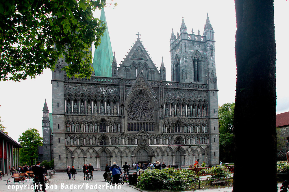 Nidaros Cathedral in Trondheim, ancient capital of Norway