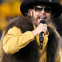 Country Music star Hank William Jr. warms up the crowd before the start of the AFC Championship game at Heinz Field on January 18, 2009 in Pittsburgh.            (UPI Photo/Archie Carpenter)