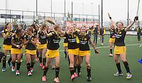 DEN BOSCH - Vreugde bij Den Bosch      na de  de tweede finale wedstrijd tussen de vrouwen van Den Bosch en SCHC (2-0)  .    COPYRIGHT  KOEN SUYK