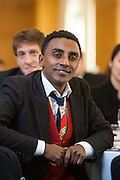 Restaurateur of the Year Award winner Marcus Samuelsson, Red Rooster. Manhattan Chamber of Commerce's 2012 Awards Breakfast celebrated business excellence by recognizing outstanding leaders. The awards were presented by Well Fargo and hosted at Con Edison's Conference Center on January 31, 2013.