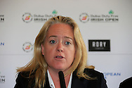 Antonia BEgga European Tour at the announcement of platers Kaymer, Donald and Reed to play the Dubai Duty Free Irish Open at Royal Co Down Golf Club, Newcastle, Co Down, Northern Ireland.<br /> Picture: Fran Caffrey / Golffile